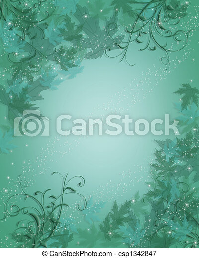 Blue Background abstract leaves - csp1342847