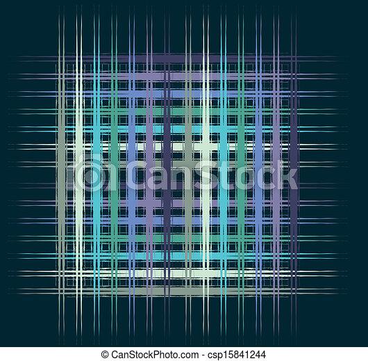 blue background plaid vector art - csp15841244