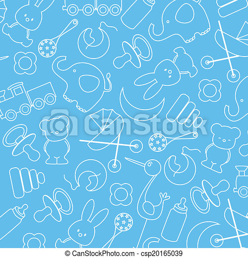 blue background with baby icons - csp20165039