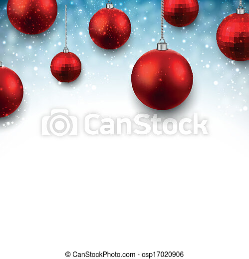 Blue background with christmas balls. - csp17020906