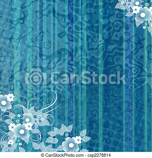 Blue background with flowers - csp2278814