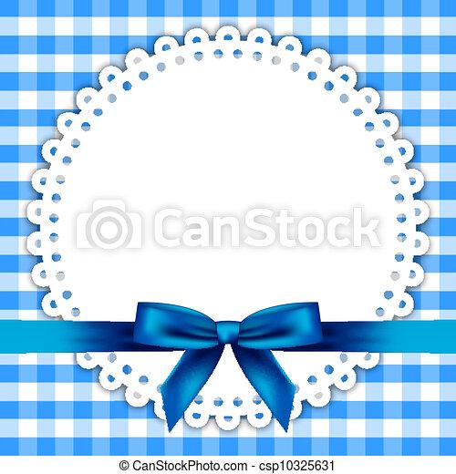 blue background with napkin - csp10325631