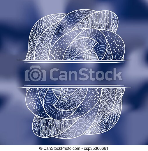 blue background with pattern - csp35366661