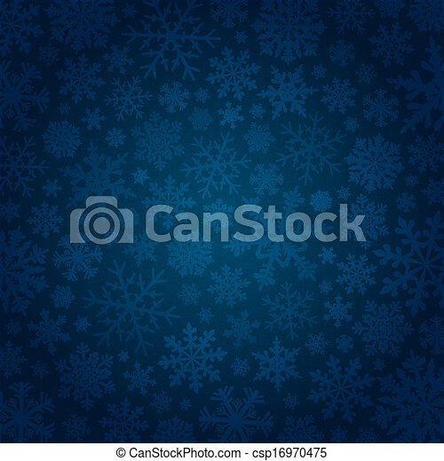 Blue background with snowflakes - csp16970475