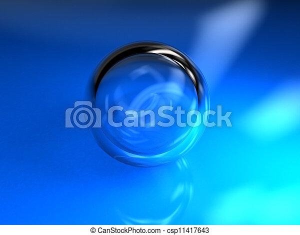 Blue ball glass - csp11417643