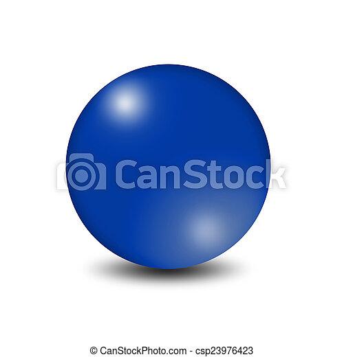 Blue ball - csp23976423