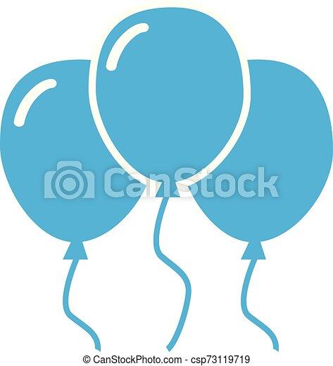 blue balloon icon on white background. - csp73119719
