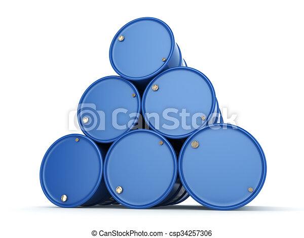 Blue barrels Viagra - csp34257306