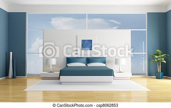 blue bedroom - csp8062853