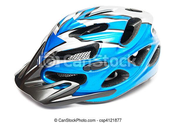 blue bicycle helmet - csp4121877