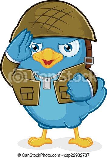 Blue Bird Army - csp22932737