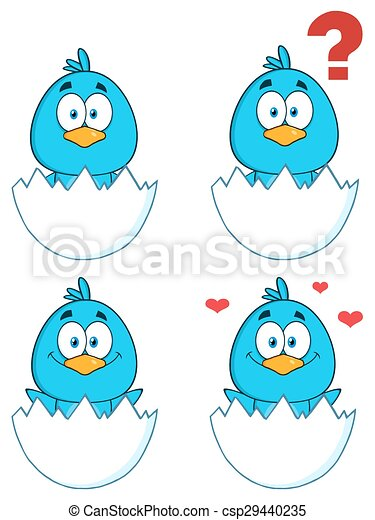 Blue Bird Character 1. Collection - csp29440235