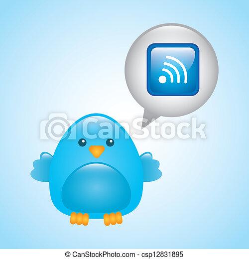 blue bird - csp12831895