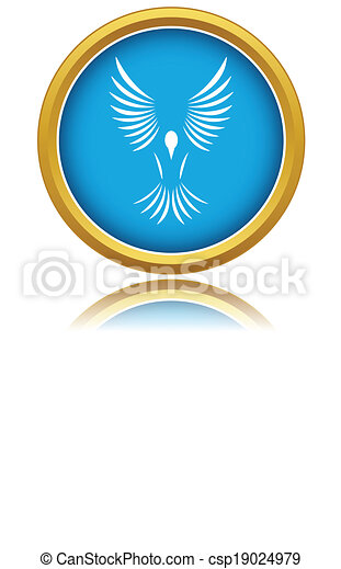 Blue bird icon - csp19024979