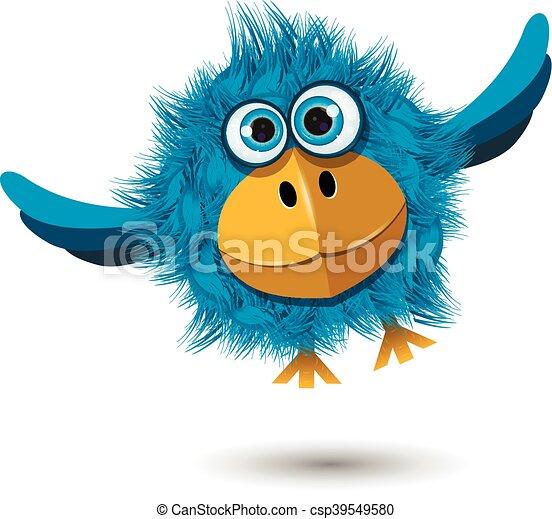 Blue Bird in flight - csp39549580