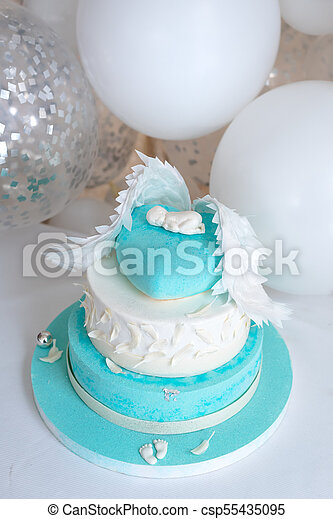 Terrific Blue Birthday Cake For Baby First Kid Birthday Decorations With Personalised Birthday Cards Arneslily Jamesorg