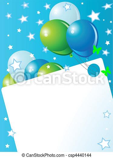 Blue Birthday card - csp4440144