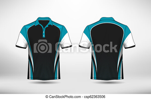 Blue Black And White Layout E Sport T Shirt Design Template