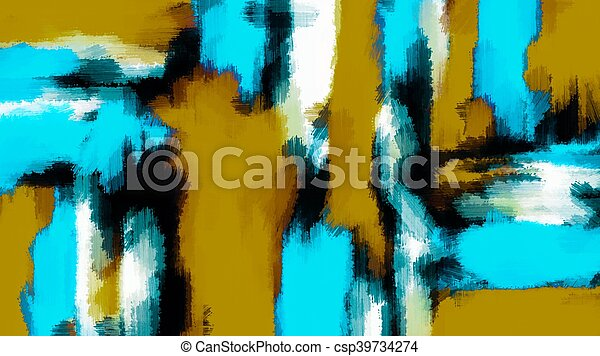 blue black and white painting - csp39734274