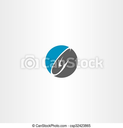 Blue Black Letter C Logo Circle Icon Symbol