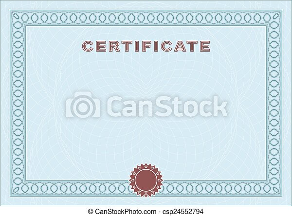 Blue blank certificate form of the certificate form of eps blue blank certificate vector yelopaper Choice Image