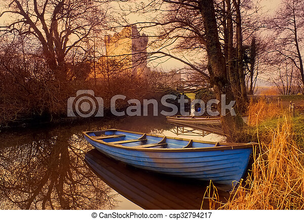 Blue Boat - csp32794217