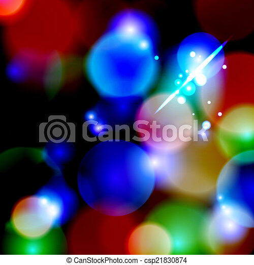 Blue Bokeh background. vector illustration. - csp21830874