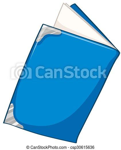 Blue book on white - csp30615636