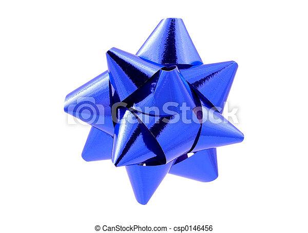 Blue Bow - Clipping Path - csp0146456