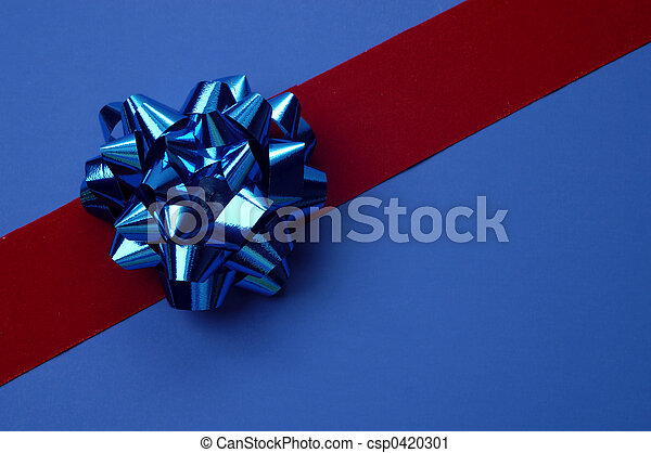 Blue Bow Gift Wrap - csp0420301