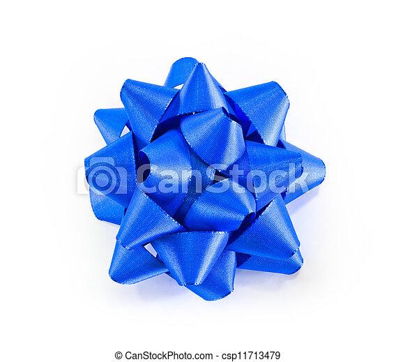Blue bow - csp11713479