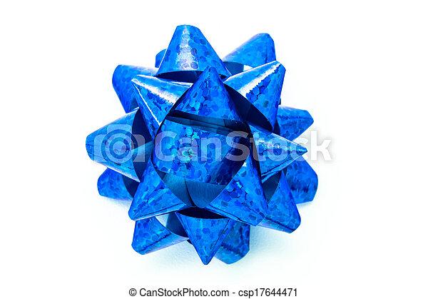 Blue bow - csp17644471