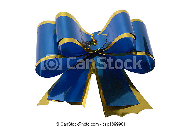 Blue bow - csp1899901