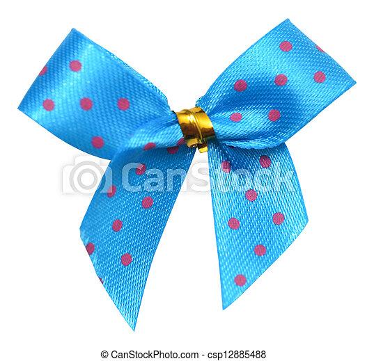 blue bow - csp12885488