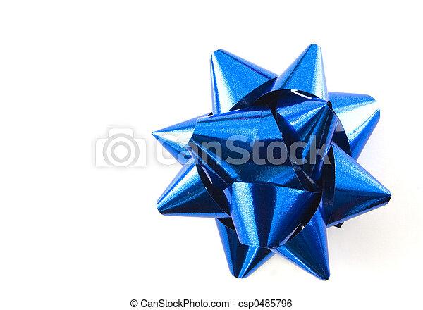 Blue bow - csp0485796