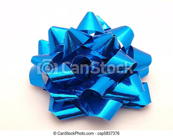 Blue bow - csp5837376