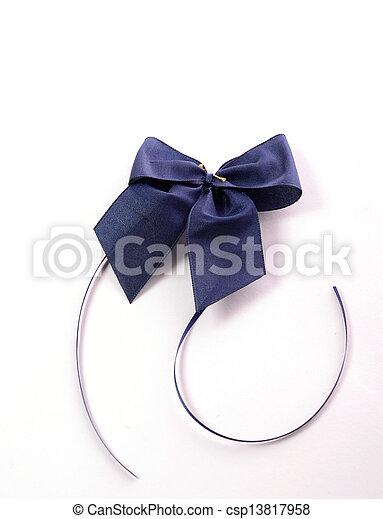 Blue bow - csp13817958