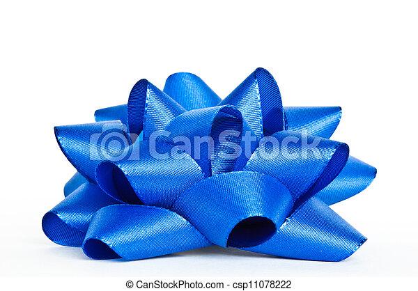 Blue bow - csp11078222