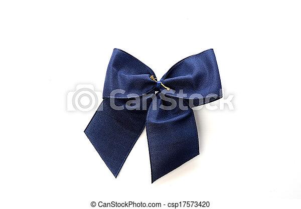 Blue Bow - csp17573420
