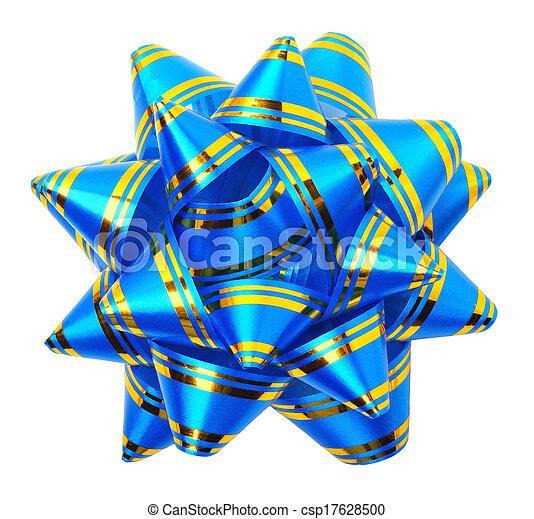 Blue bow - csp17628500