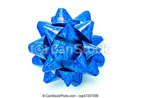 Blue bow - csp47337308