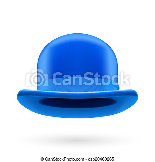 Blue bowler hat - csp20460265