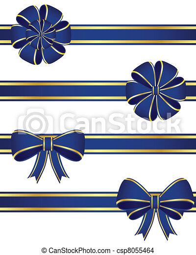 Blue bows - csp8055464