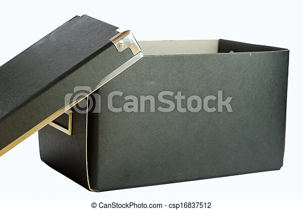 Blue box. - csp16837512