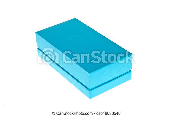 Blue box - csp46038548