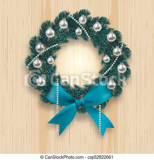 blue branch ate in the shape of a christmas wreath with shadow blue onions silver balls and beads - Blue Christmas Wreath