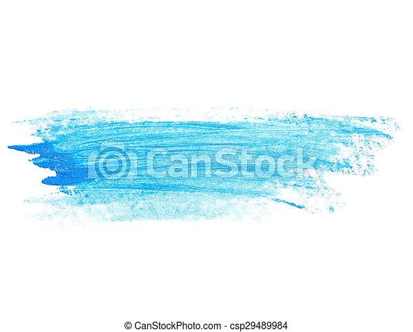 blue brush strokes oil paint - csp29489984