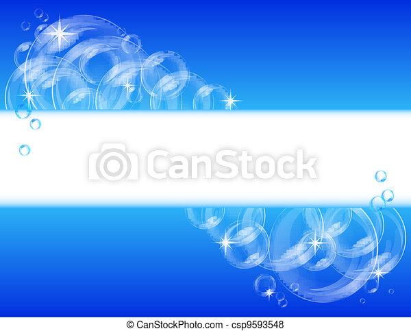 Blue bubble vector background - csp9593548