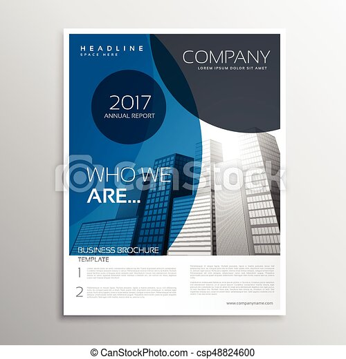 Blue business brochure cover page template design with curve shape blue business brochure cover page template design with curve shape csp48824600 maxwellsz