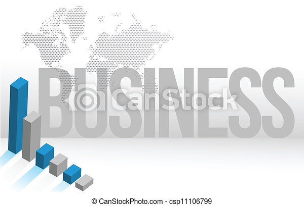 Blue Business map chart background - csp11106799